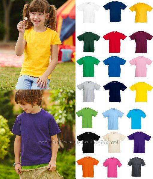 Детская футболка Классическая Хлопок 165 гм2 Fruit of the loom Valueweight