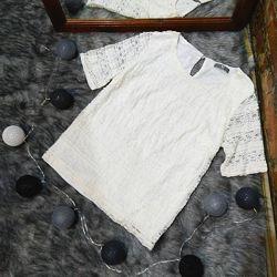 Двухслойная блуза кофточка из кружева