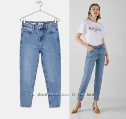 голубые джинсы mom 29-30