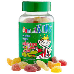 Gummiking, витамин С и цинк, эхинацея для детей,60 таблеток