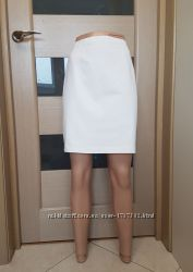 Джинсовая юбка белая, 46 М, Marks&Spencer