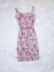 Хлопковое платье в цветочек