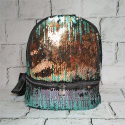 Женский рюкзак пайетки, блестки, градиент