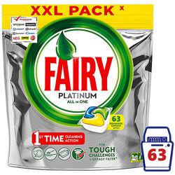 Капсулы для пмм Fairy Platinum Lemon 63 шт