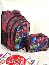 Школьный рюкзак с мигалками плюс сумочка ланч-бокс