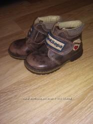 Кожаные ортопедические ботиночки шкіряні ортопед чоботи напівчобітки осінні