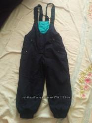Осенний полукомбинезон теплі штани штаны демисезонный осінній полукомбінезо