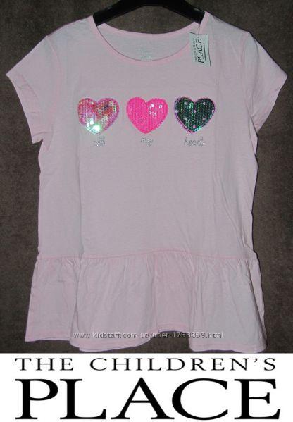 Новая футболка для девочки Children&acutes Place США 140-158