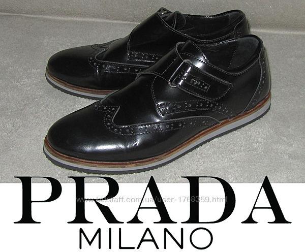 Туфли школьные кожаные PRADA Италия р.34, 22-22,5см