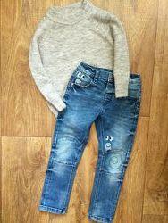 Джинсы свитер реглан кофта свитшот для мальчика 3-4 года 98-104см