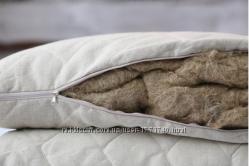 Подушка детская с льняным наполнителем 40х60см.