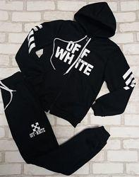 Утепленный спортивный костюм, в стиле Off-white