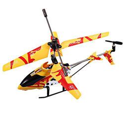 Вертолет радиоуправляемый желтый 33012 Model King 3-канальный
