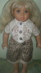 Лялька кукла 48 см Швейцария Heidiland Teen&acuteee Оригинал Клеймо винил