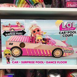 Машина лол кабриолет к куклой лол L. O. L. Surprise Car-Pool Coupe