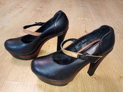 Туфли ботинки Лабутены Кожаные натуральная кожа