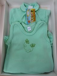 Новый набор для новорожденных с вышивкой 5-ти предметный.