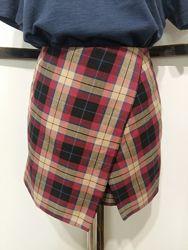 Юбка шорты в клетку бренд topshop