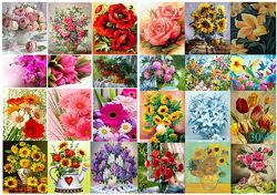 Алмазная вышивка, мозаика 5d, наборы, цветы, декор, хобби, сад, размер 30х40