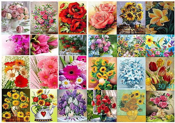 Алмазная вышивка, мозаика 5d, наборы, цветы, декор, хобби, сад, размер 30х4