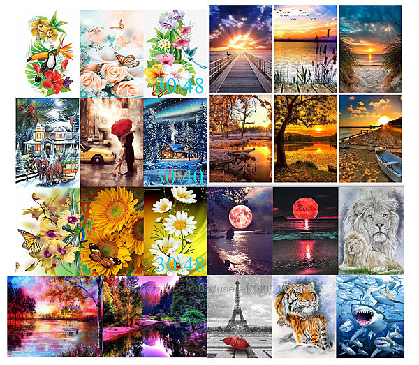 Алмазная вышивка, мозаика 5d, наборы, пейзаж, декор, хобби, размер 30х40