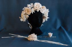 Свадебный венок. Корона из цветов
