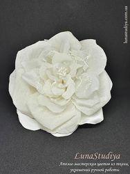 Брошь заколка с цветком. Цветы в прическу невесты
