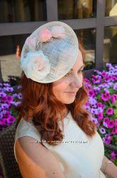 Нежная свадебная шляпка Летняя шляпка с розами