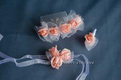 Свадебные аксессуары для невесты. Свадебный гребешок. Бутоньерка свадебная