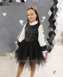 Крутетское платье - ромпер для девочек 8, 10, 12, 14, 16 лет Италия