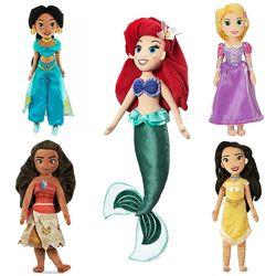 Мягкие игрушки куклы Русалочка, Жасмин, Моана, Рапунцель, Покахонтас, Disne