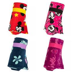 Плюшевый плед Disney Стич, Принцессы, Минни и Микки Маус 127х152см оригинал