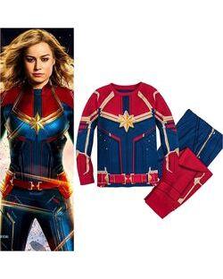 Детская пижама для девочки 7-8 лет Captain Marvel, Disney Store оригинал