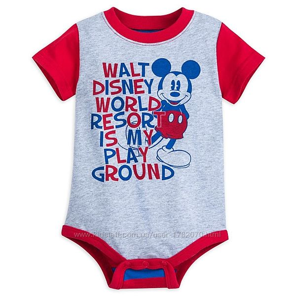 Боди Mickey Mouse для малышей 9-12, 18-24 мес, Disney Store оригинал