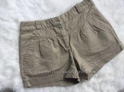 Стильные мини шорты Mango хлопковые хаки стиль сафари S