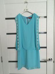 Брендовое платье туника сарафан легкое летнее новое s-m ricarda m