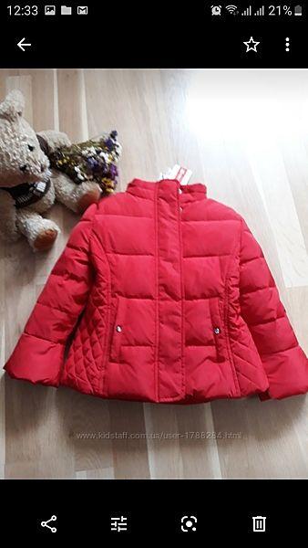 Куртка-пуховик на 3-4года