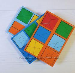 Сложи квадрат Б. П. НИКИТИН, 1, 2, 3 уровень