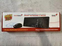 Клавиатура  Мышь Genius Wireless SlimStar 8006 Black Ukr Рабочий комплект