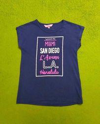 Фирменная стильная футболка на девочку 134-140 см, 8-10 лет, OVS