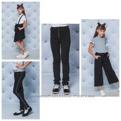 Стильная одежда для школы-кюлоты, сарафан , брюки с лампасами,  лосины
