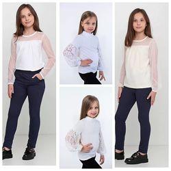 Стильная блуза - белый , молочный
