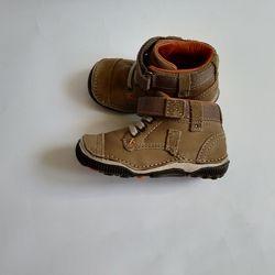 Ботинки кроссовки кожа с сша stride rite  srt garrett стелька мемори 12 см