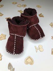 Пинетки для новорожденных   Детские пинетки угги зимние для малышей