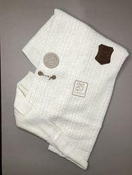 Пледы для новорожденных теплые вязаные зимние На выписку мальчиков Девочкам