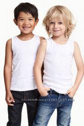 Майки белые  и серые H&M