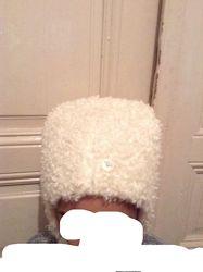 Детская тёплая новая меховая шапка