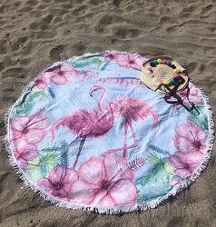 Полотенце-подстилка для пляжа, пляжный коврик подстилка круглое