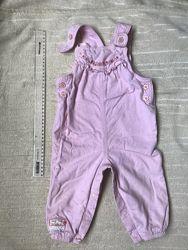 Комбинезон розового цвета, вельвет  George 9-12м