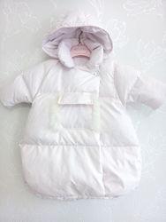 Конверт нарядный теплый зимний Canzitex пуховый розовый blumarine il gufo